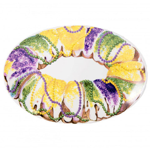 Mardi Gras Collections King Cake Platter