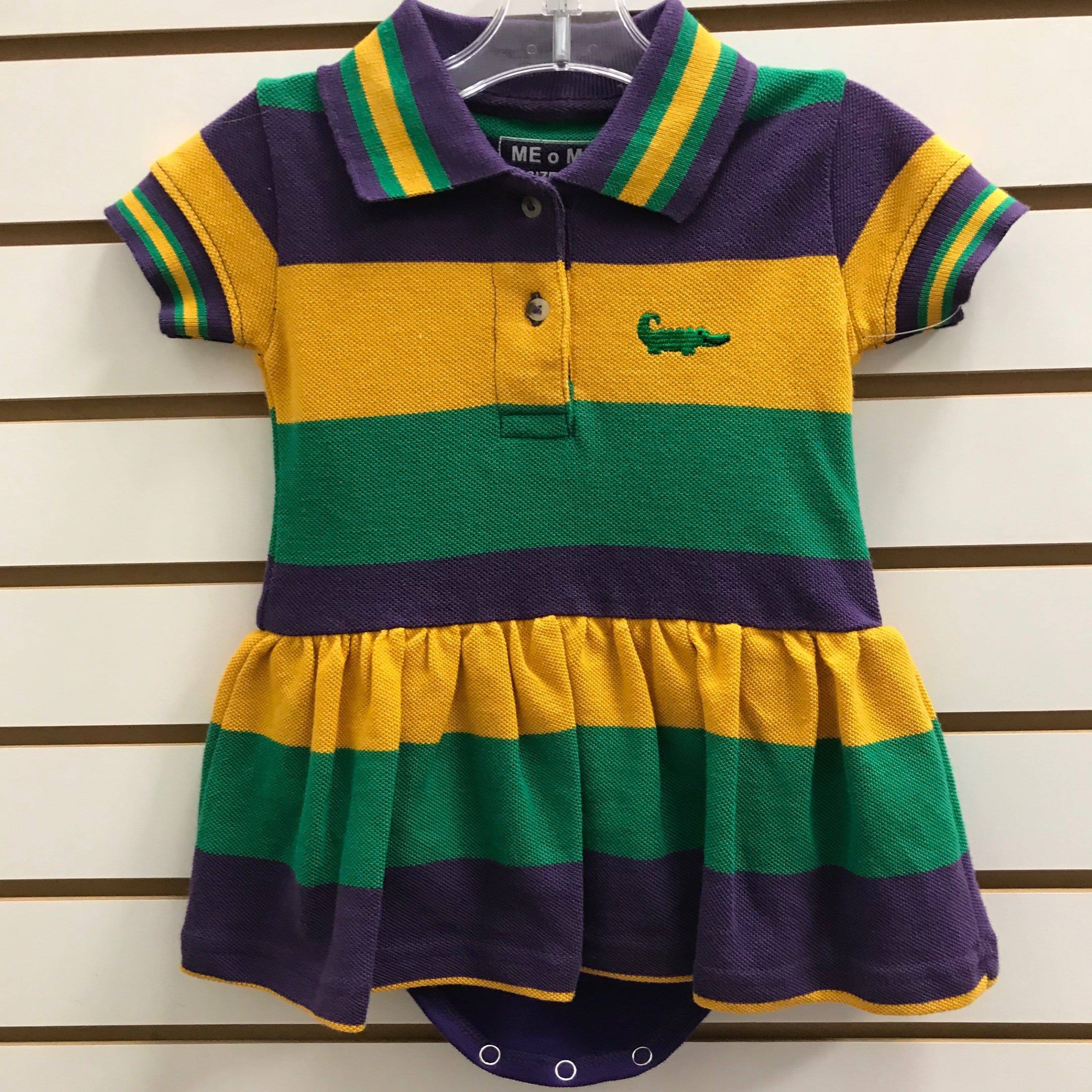 cab34f885e7 Me Me's Short Sleeve Mardi Gras Polo Dress – Little Miss Muffin ...