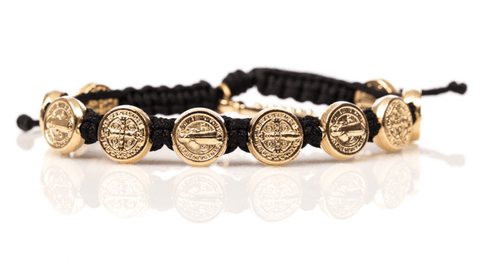 My Saint My Hero Benedictine Blessing Bracelet with Gold Medals