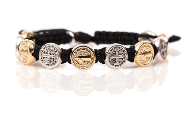 My Saint My Hero Benedictine Blessing Bracelet with Mixed Medals