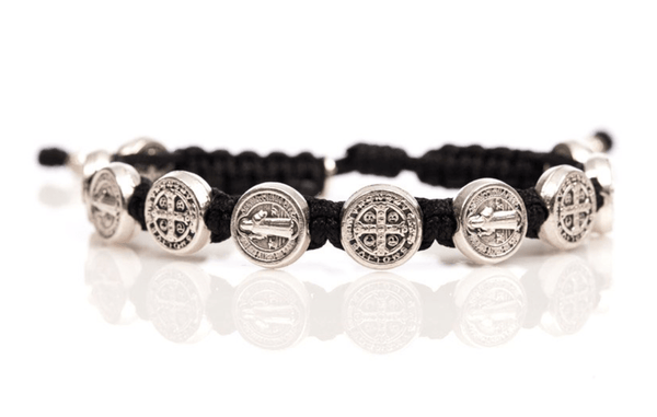 My Saint My Hero Benedictine Blessing Bracelet with Silver Medals