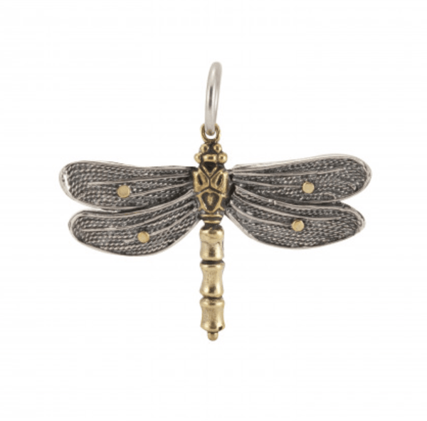 Waxing Poetic Transformative Dragonfly Charm