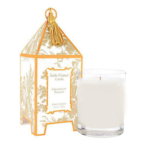 Seda France Grapefruit Paradis Classic Toile Pagoda Box Candle