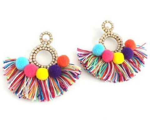 Treasure Jewels Sunshine Tassel Earrings