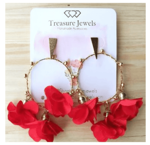 Treasure Jewels Valentina Hoop Earrings