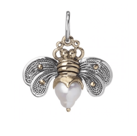 Waxing Poetic Bee Brave Honey Pearl Charm