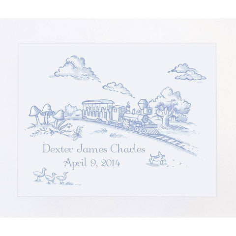 Maison NOLA Storyland Toile Personalized Print, Train