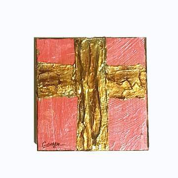 Ginger Leigh Designs Medium Square Lustre Cross, Assorted Colors