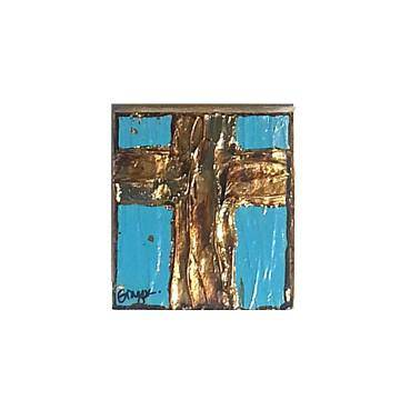 Ginger Leigh Designs Small Square Lustre Cross, Assorted Colors