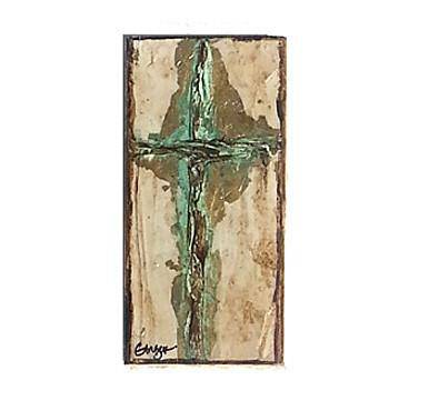 Ginger Leigh Designs Rectangular Verdi Gris Cross