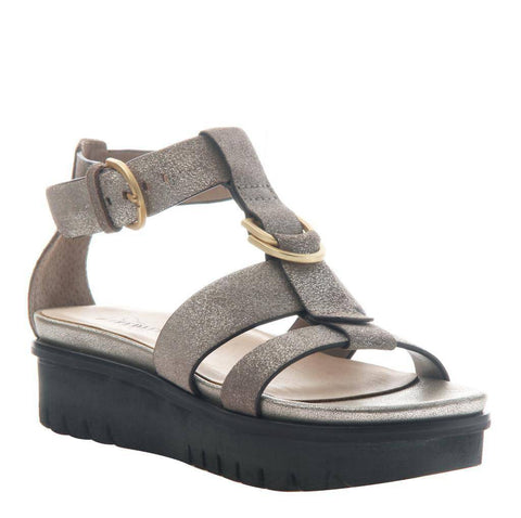 Nicole Hadar Wedge Sandal in Grey Pewter