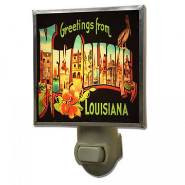 Heather Elizabeth Greetings from Louisiana Night Light