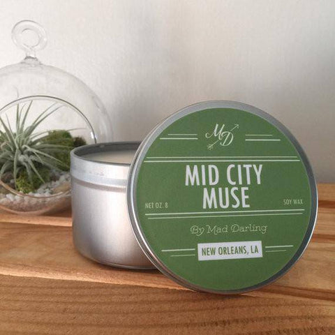 Mad Darling Mid-City Muse Candle Tin