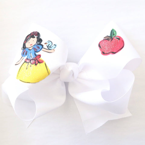 Two Sisters Snow White Princess Bow