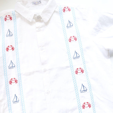 Dat Mambo Shirt Sailboats & Crabs
