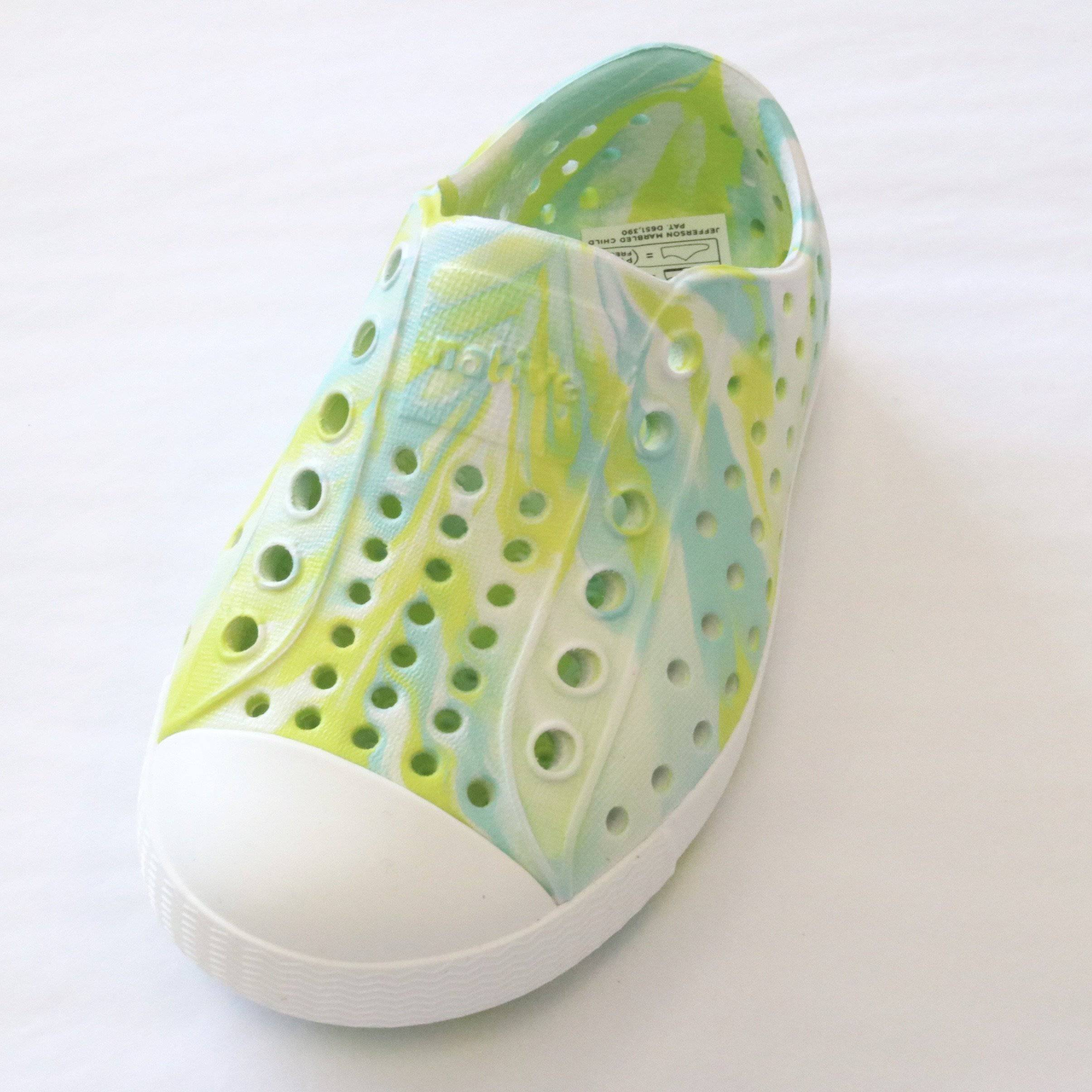 Native Shoes - Glo Green Marble