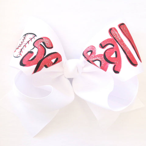 Two Sisters Baseball Bow