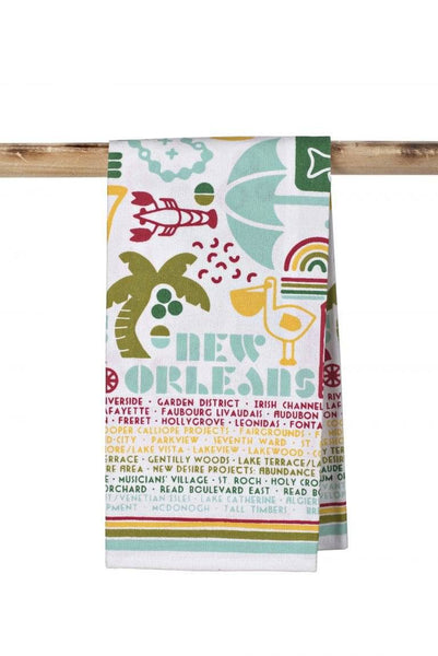 New Orleans Neighborhoods Kitchen Towel