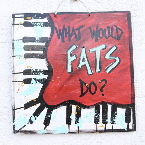 Gabby Gumbo Art - What Would Fats Do?