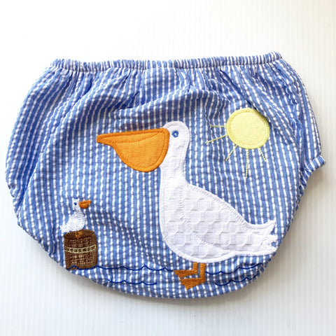 Bailey Boys Seersucker Pelican Diaper Cover