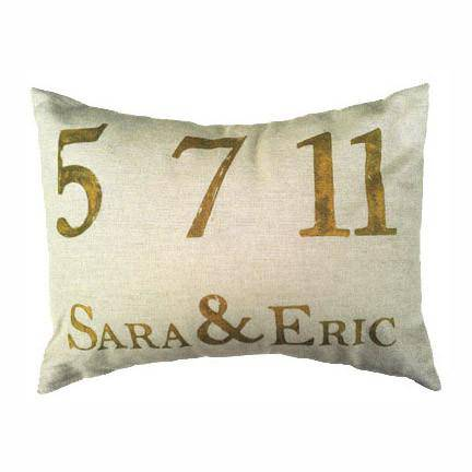 NOLA Tawk Personalized Wedding Pillow, Multiple Colors