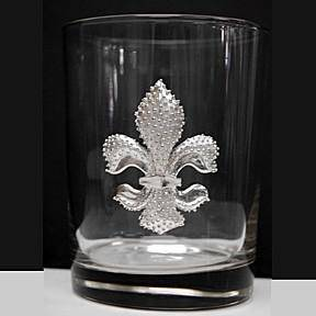 Pewter Graphics French Quarter Fleur de Lis Tumbler