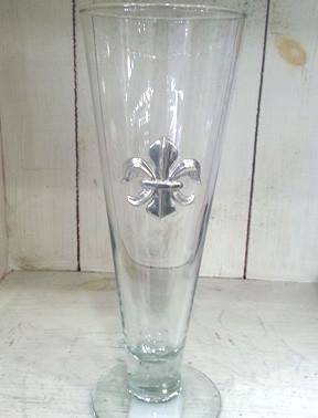 Pewter Graphics Fleur de Lis Pilsner Glass