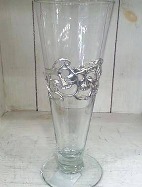 Pewter Graphics Comedy and Tragedy Pilsner Glass