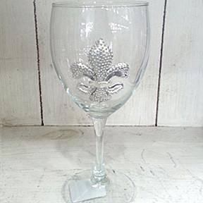 Pewter Graphics French Quarter Fleur de Lis Wine Glass