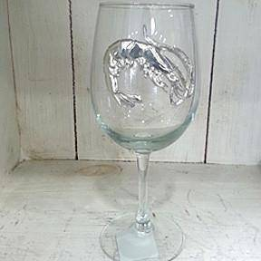 Pewter Graphics Shrimp Wine Glass