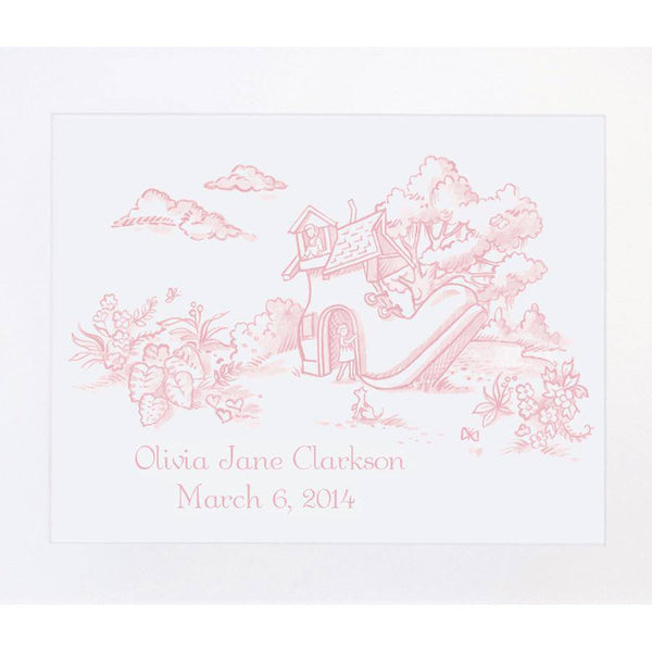 Maison NOLA Storyland Toile Personalized Print, Old Woman Who Lived in the Shoe