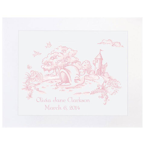 Maison NOLA Storyland Toile Personalized Print, Whale