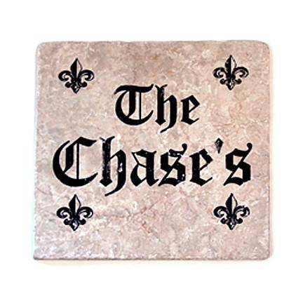 "Set in Stone Personlized 12"" x 12"" Plaque"