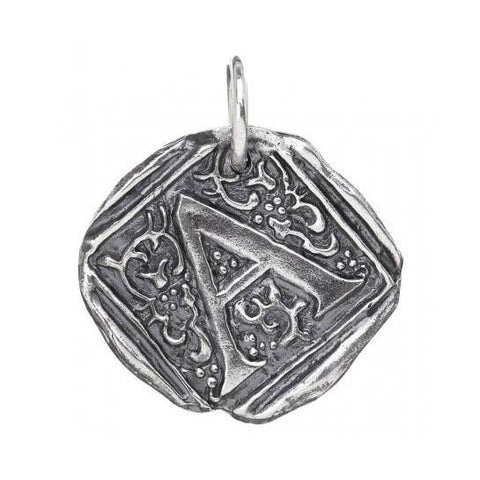 Waxing Poetic Square Insignia Charm