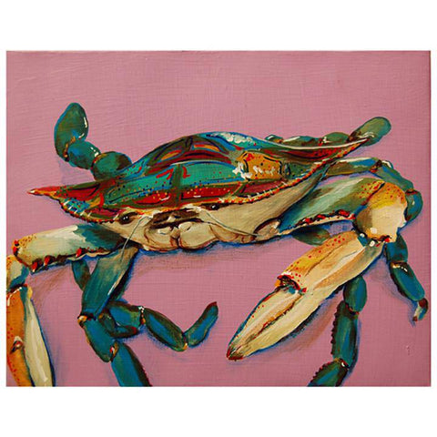 Toodle Lou Designs Mosaic Crab Acrylic Painting