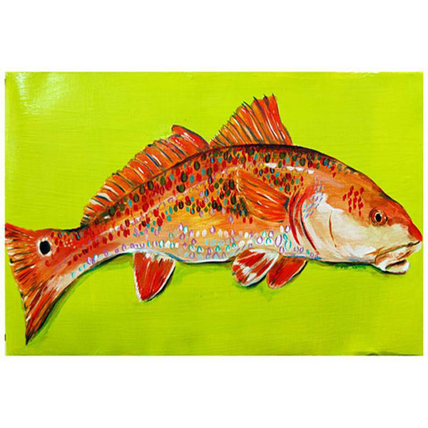 Toodle Lou Designs Mosaic Redfish Acrylic Painting