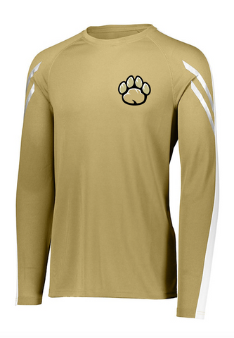 OAK FOREST HIGH SCHOOL FACULTY ASSOCIATION 2018 HOLLOWAY SCREENED VEGAS GOLD FLUX LONG SLEEVE SHIRT