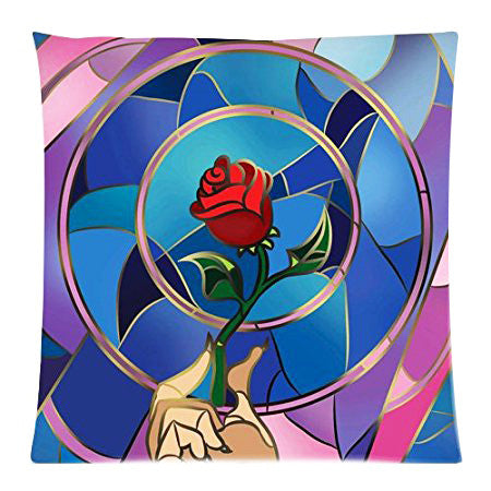 Beauty and the Beast Flower of Life Cushion