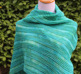 Asymmetric Drop Stitch Shawl Pattern - Knit