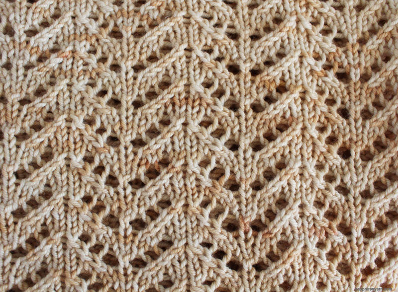 Easy Chevron Lace Cowl Pattern Knit Sapphires N Purls