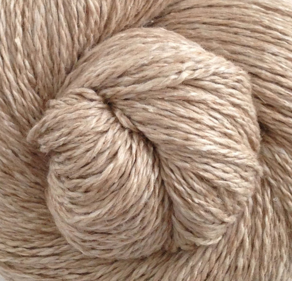 Natural Silk Camel Sapphires N Purls Hand Dyed Yarn