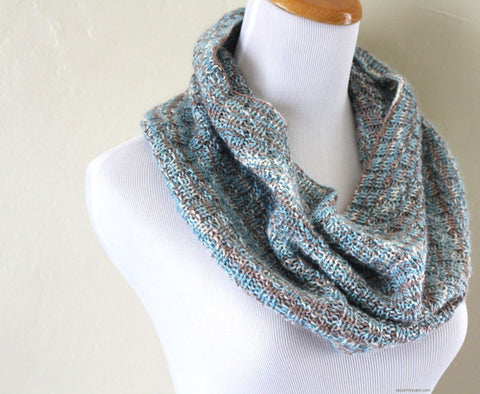 Broken Rib Cowl Pattern - Knit