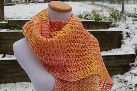 Window Lattice Scarf Pattern - Knit