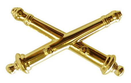 ARMY OFFICER BRANCH OF SERVICE COLLAR DEVICE: ARTILLERY