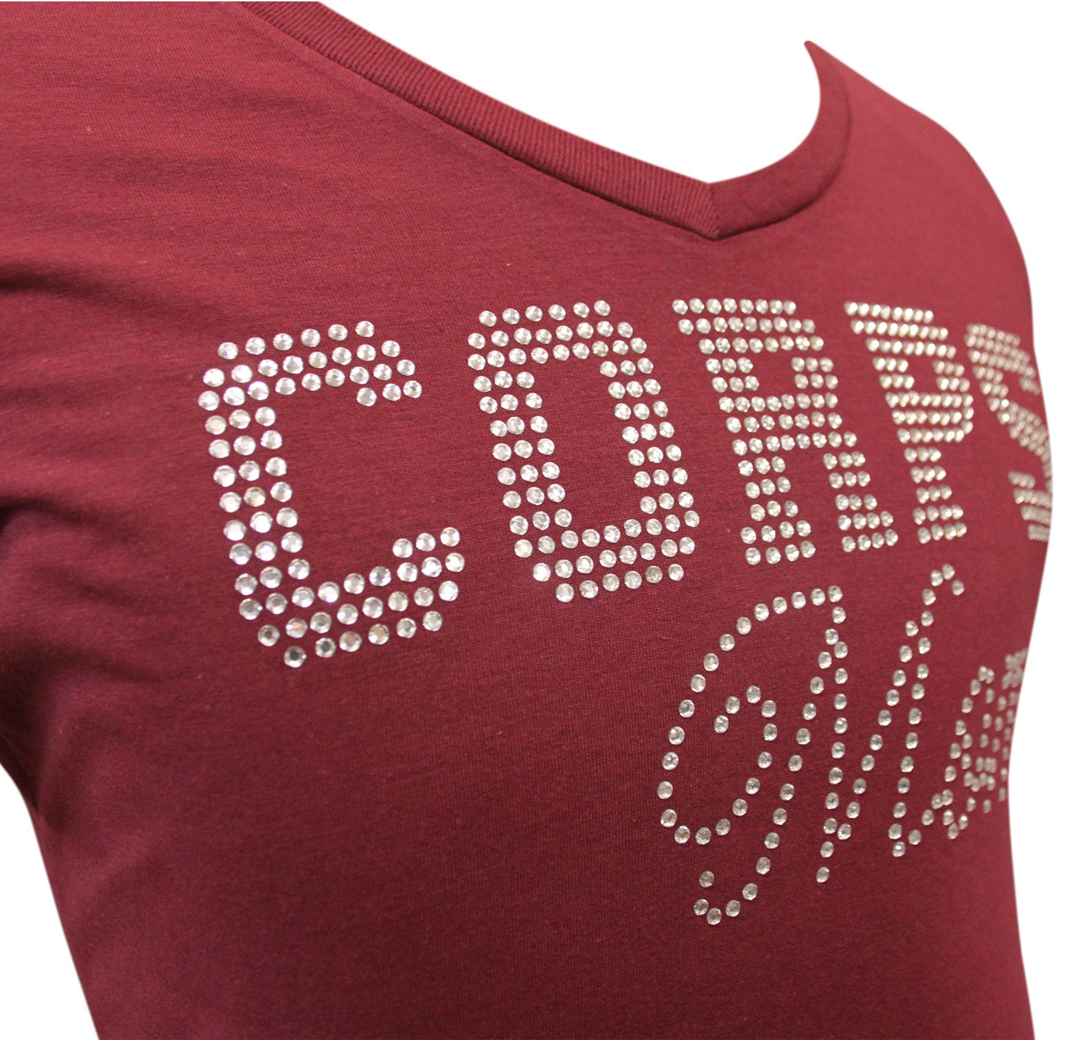 Corps Mom Rhinestone V-Neck
