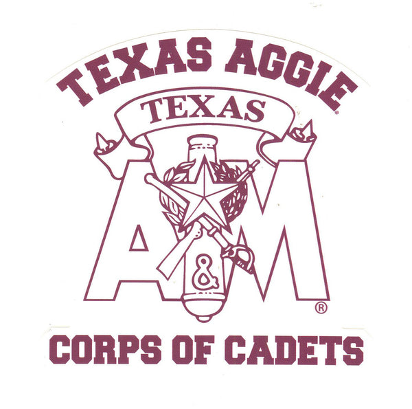 Corps Stack Decal With Texas Aggie Corps of Cadets