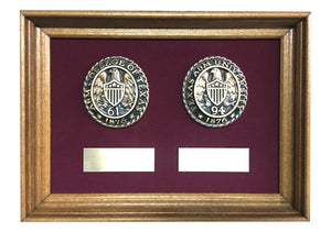 Aggie Ring Crest Double Plaque with Name Plates