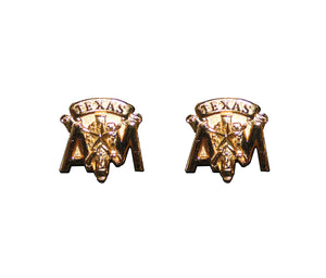 Gold Corps Stack Post Earrings