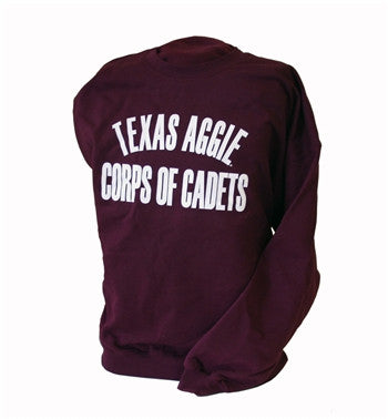 Maroon Corps of Cadets Crew Neck Sweatshirt