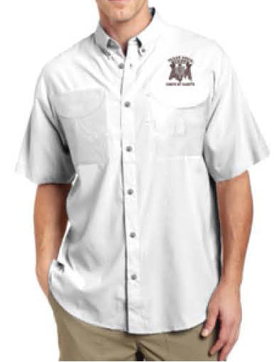 White Cotton Corps Stack Fishing Shirt